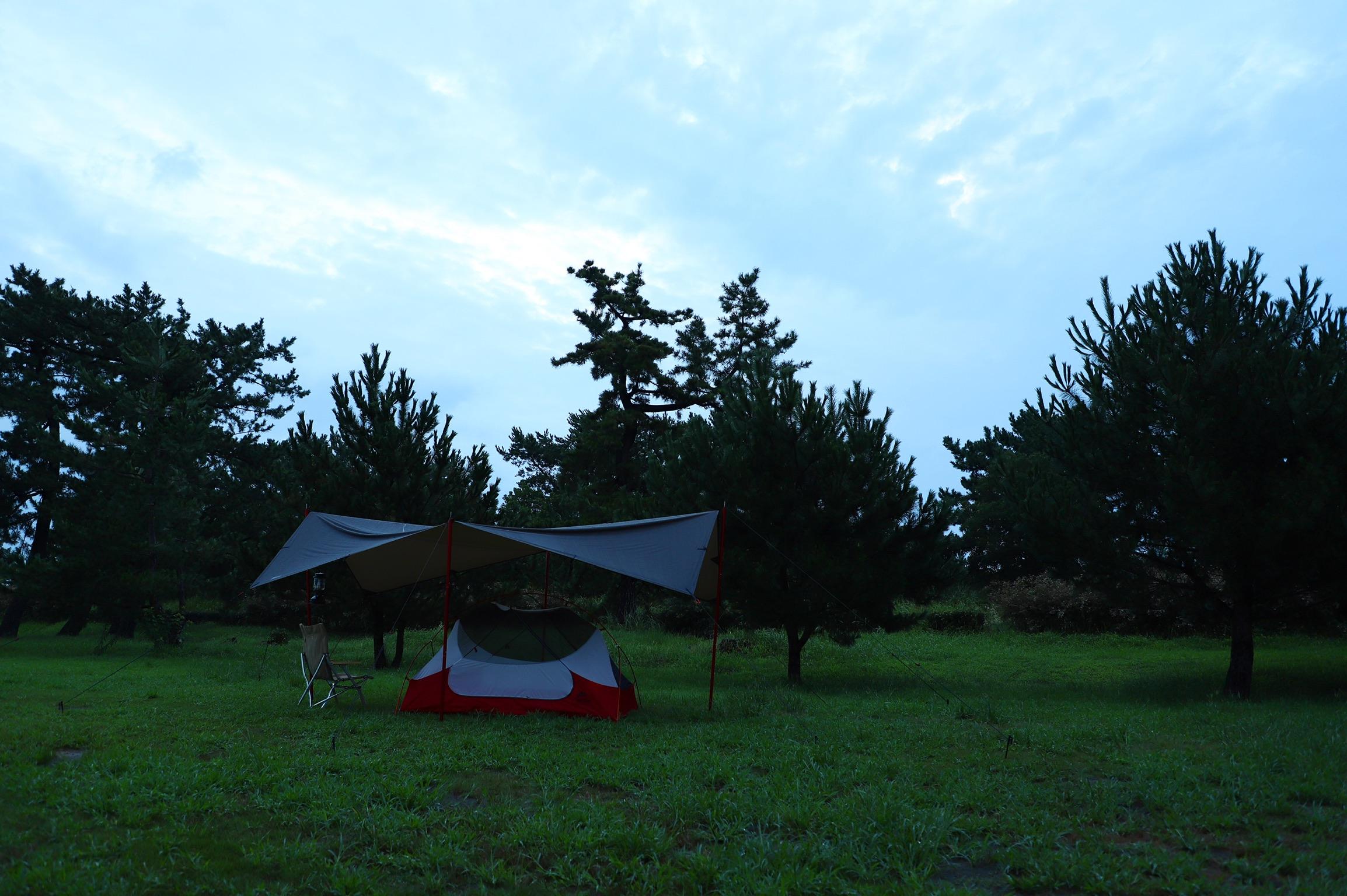 たまには無料でお得に♪ 浜風公園キャンプ場