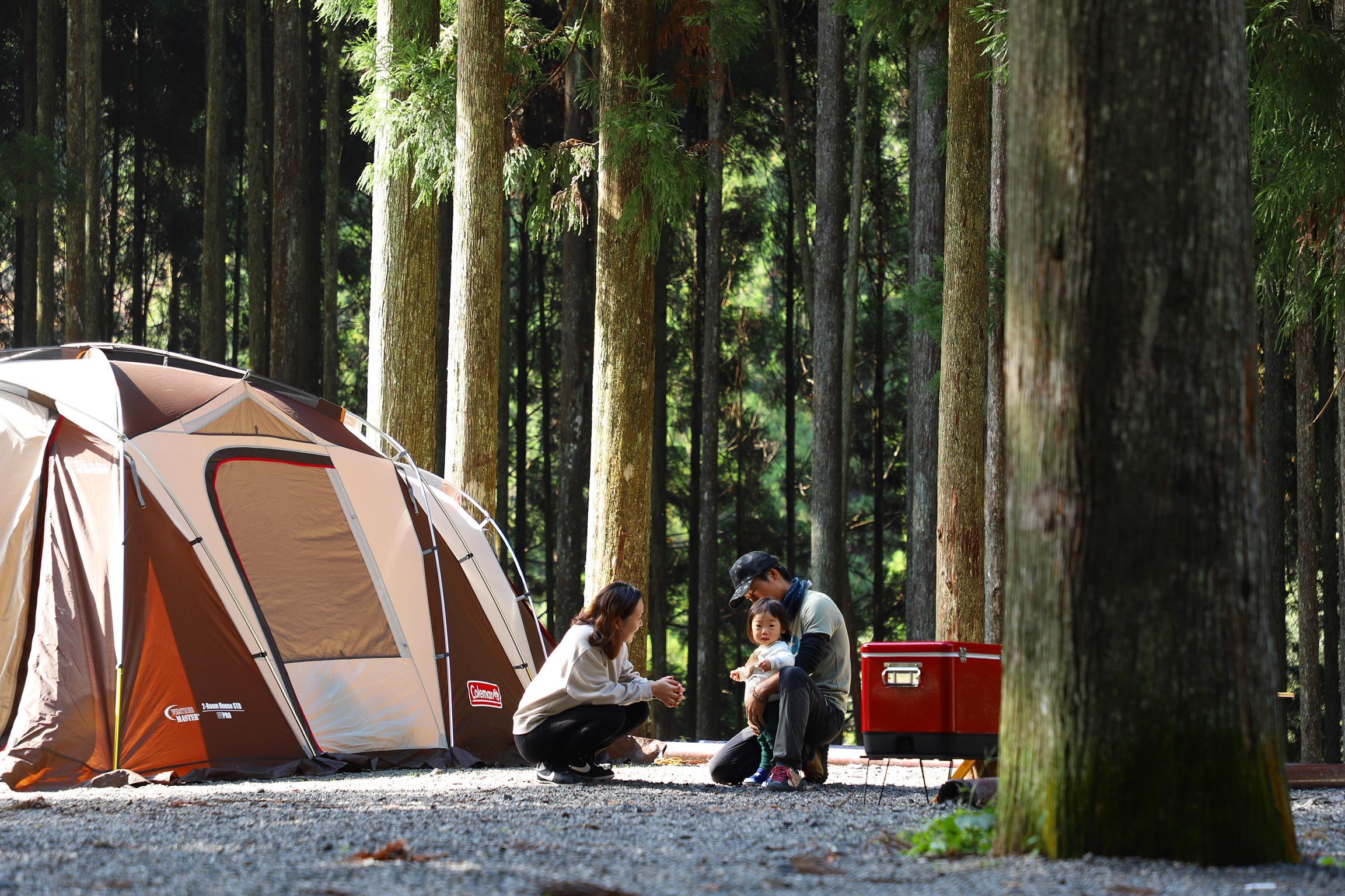 静かな木々に囲まれながら♫ 西之谷 ふれあいの森キャンプ場