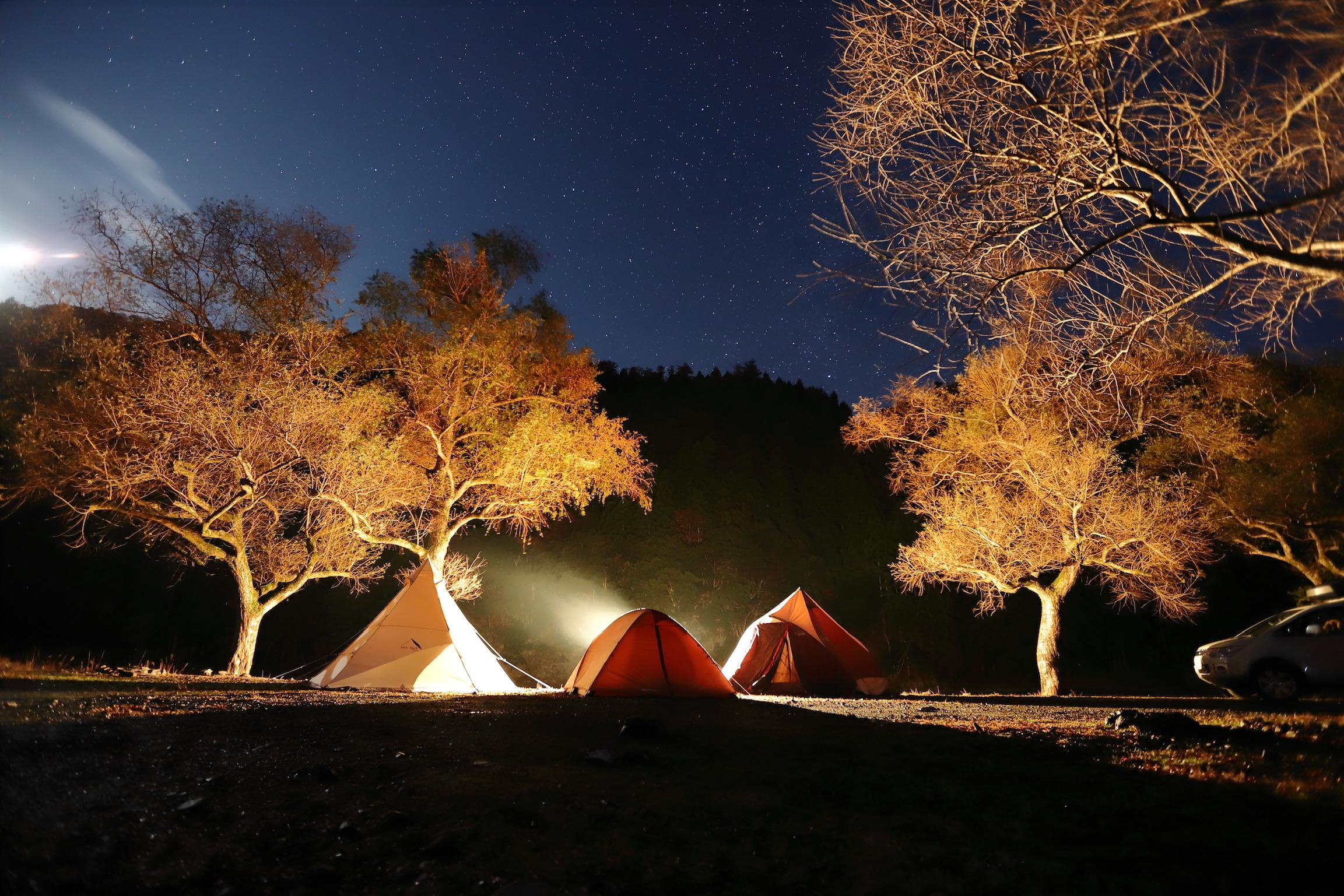 川のそばでキャンプができる公園♪ 桑野橋河川公園(朽木キャンプ場)