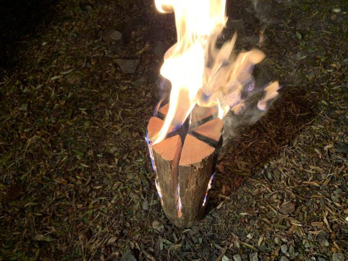 一風変わった焚き火🔥スウェーデントーチの実際