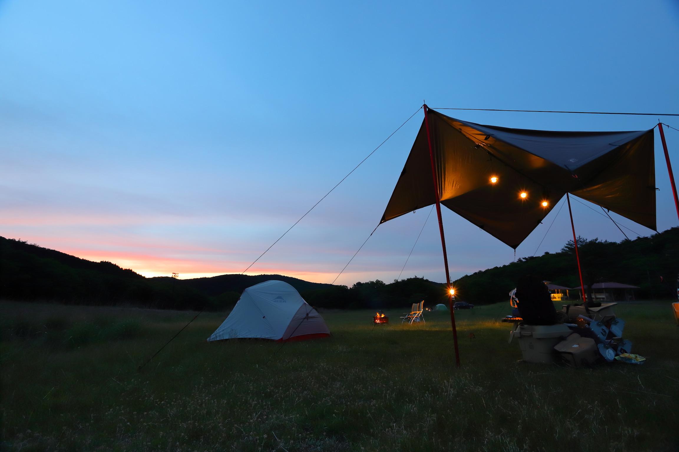 星空がきれいな草原のフリーサイト☆ 星降る高原キャンプ場