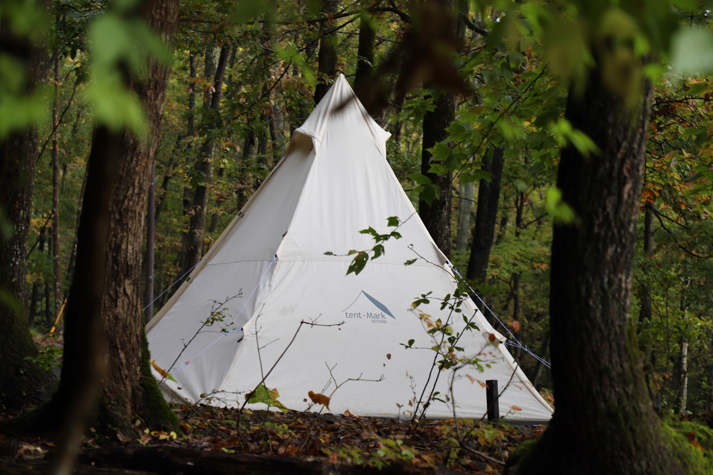 正統派林間サイトの佇まい。奥琵琶湖キャンプ場